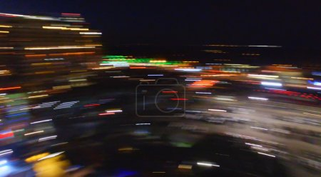 Blurred night view of city lights
