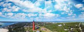 Ponce de Leon Lighthouse near Daytona Beach, aerial sunset view