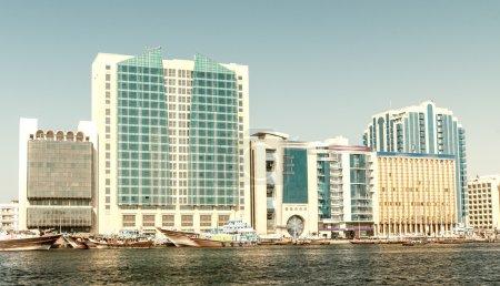 Old Dubai creek and buildings