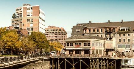 Boston skyline from the sea