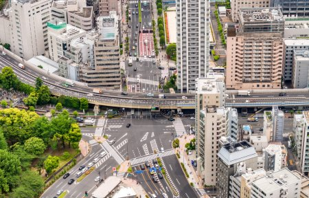 Tokyo road intersection and buildings