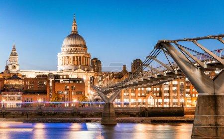 St Paul at dusk, London