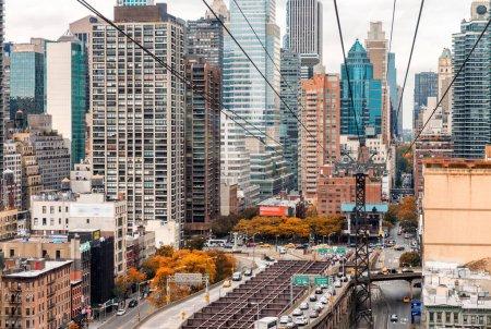 Manhattan skyline as seen from Roosevelt Island