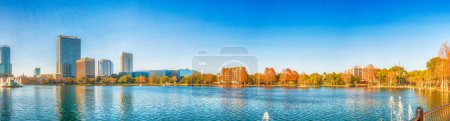 Lake Eola, Orlando. Panoramic city view