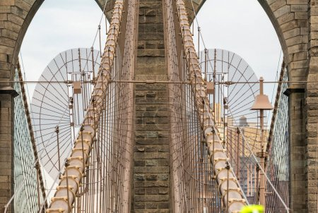 Columns of Brooklyn Bridge detail, New York City
