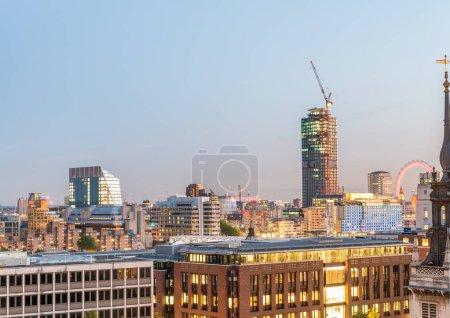 London lights and skyline - UK
