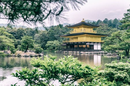 The Golden Pavilion (Kinkaku-ji) of Kyoto, Japan