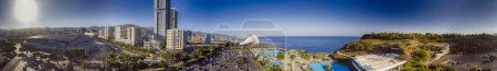 Photo for Panoramic aerial view of Santa Cruz de Tenerife, Canary Islands. - Royalty Free Image