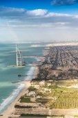 Dubai coastline from the air