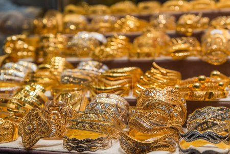 Gold on the famous Golden Souk in Dubai