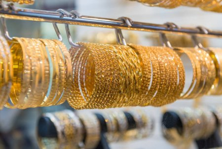 Golden jewelry in Dubai, UAE
