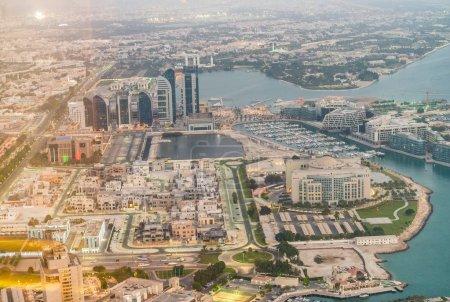 Aerial skyline of Abu Dhabi, UAE