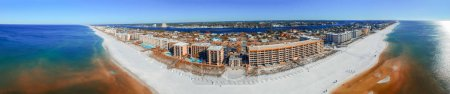 FORT WALTON, FL - FEBRUARY 5, 2016: Aerial panoramic view of cit