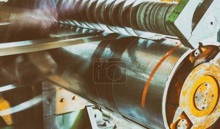 Metalworking industry. cutting tool processing steel metal spira