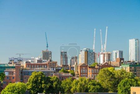 London buildings along river Thames - UK