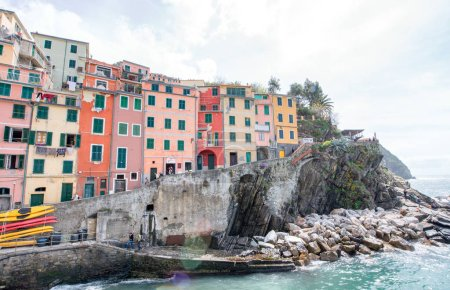 Beautiful Quaint Village of Riomaggiore, Colorful Homes of Cinqu
