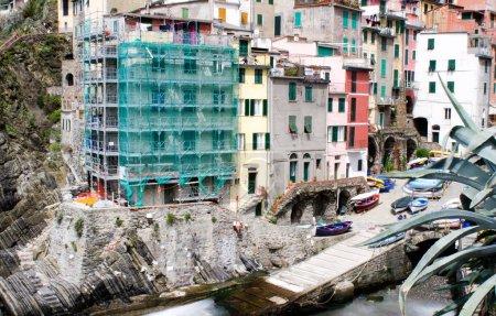 Beautiful quaint village of Riomaggiore, Cinque Terre - Colorful
