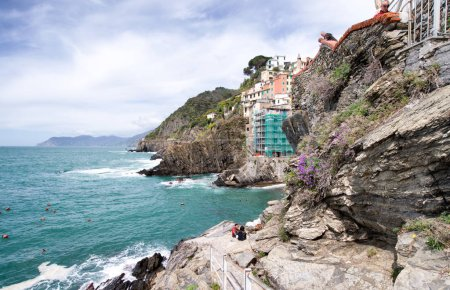 Wonderful coastal colors of Riomaggiore in Spring Season, Cinque