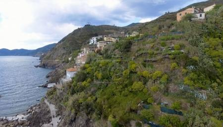 Beautiful aerial view of Cinque Terre - Five Lands - Italy