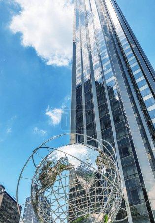 NEW YORK CITY - JUNE 9, 2013: Columbus Circle skyscrapers on a b