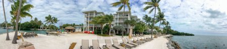 Panoramic view of coastline in Islamorada - Florida