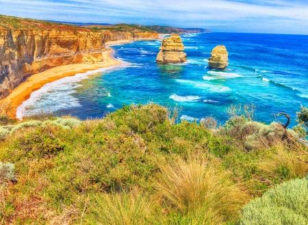 Sunset panoramic view of Twelve Apostles, Australia