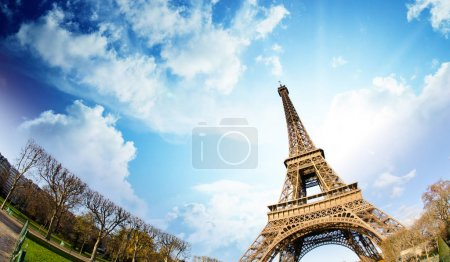 Sky Colors over Eiffel Tower in Paris, France