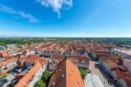 Aerial view of Celle skyline, Lower Saxony - Germany.