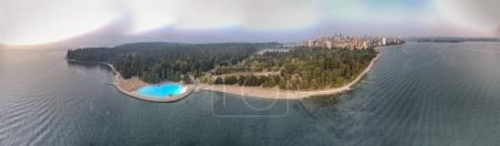 Photo for Vancouver, Canada. Sunset panoramic aerial view from Stanley Park. - Royalty Free Image
