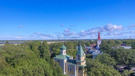 Haapsalu, Estonia. Beautiful aerial view in summer season.