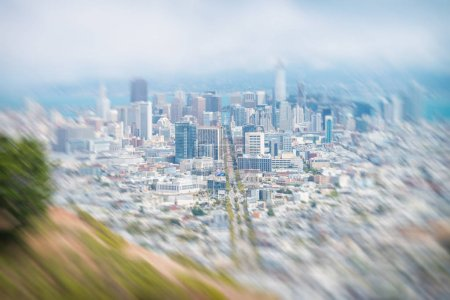 SAN FRANCISCO, CA - AUGUST 5, 2017: City skyline from Christmas Tree Point. San Francisco attracts 20 million people annually.