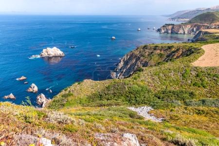 The Big Sur, California. Amazing coastline view in summer season