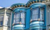 Classic home architecture of San Francisco buildings, California - USA.