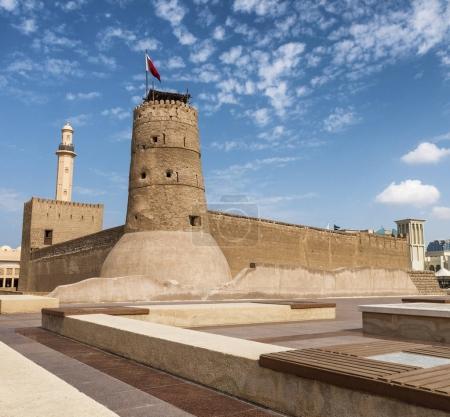 Dubai Museum on a beautiful sunny day, UAE.