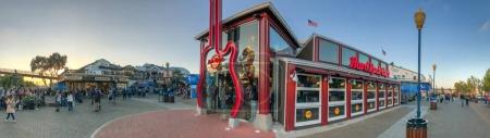 SAN FRANCISCO - AUGUST 5, 2017: Tourists on Pier 39 recreational area. The city attracts 25 million people annually.