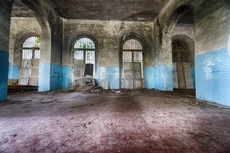 Interior of abandoned building.
