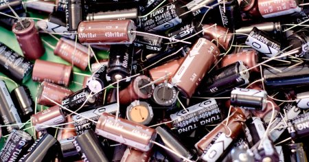 Photo for Box of Electronics Components, Italy - Royalty Free Image