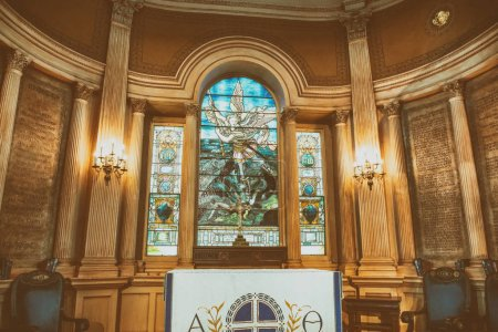 CHARLESTON, SC - APRIL 6, 2018: Interior of St Michael Church. It is one of the most famous city churches.