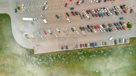 Photo pour Vue aérienne du Grand stationnement. - image libre de droit