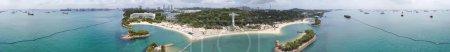 Photo for Siloso Beach panoramic aerial view, Sentosa, Singapore. - Royalty Free Image
