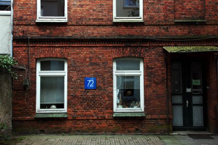 Brick house in Hamburg, Germany