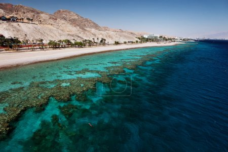 Red Sea with corals of Eilat