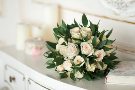 wedding bouquet with colorful flowers
