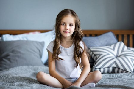 Portrait of a beautiful smiling little girl
