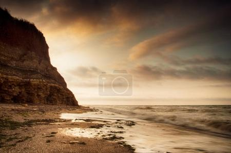 sea skyline and rocks