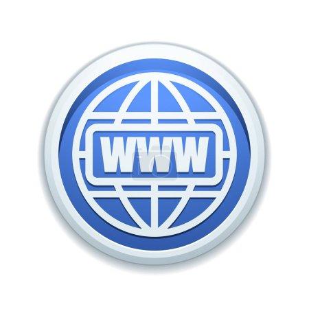 World Wide Web button