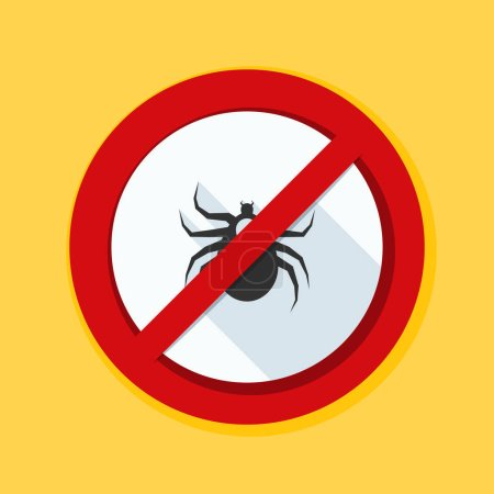 Ticks acarine free sign