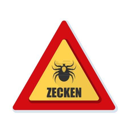 Ticks danger sign