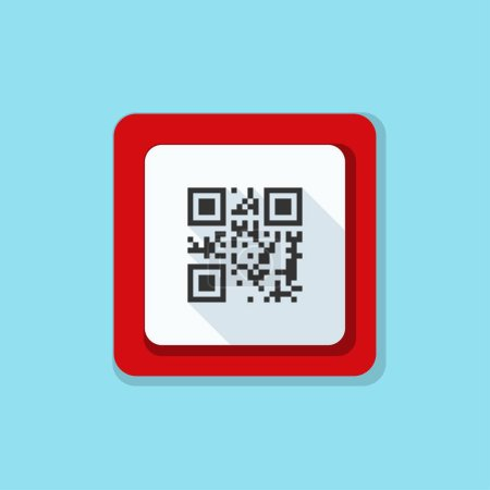 QR code roadsign icon