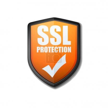 SSL Protection Shield, vector illustration...